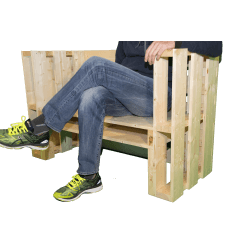 Pallet panchina - Vista con seduta