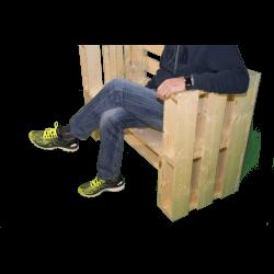 Pallet panchina - Vista con seduta V2