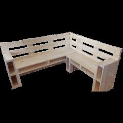 Corner bench pallet