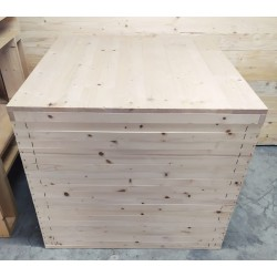 Cassa in legno 85x85x75h