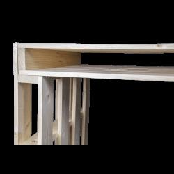 Pallet Bureau basis en hoek