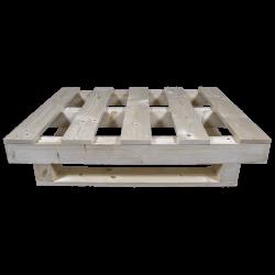 Palete de madeira com contraficha - Frente baixa