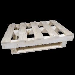 Palete de madeira com contraficha - Frente lado esquerdo
