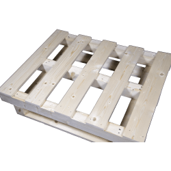 Palete de madeira com contraficha - Frente lado direito