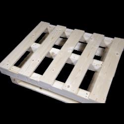Palette en bois avec contrefiche - Côté avant droit