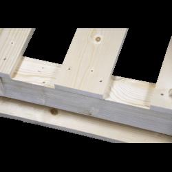 Palete de madeira com contraficha - detalhe de projeção