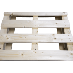 Palete de madeira com contraficha - Frente de cima