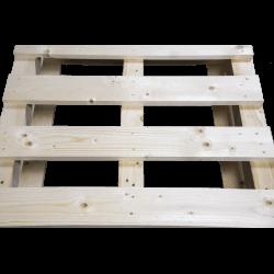 Schwerlastpalette aus Holz - Vorderseite von oben