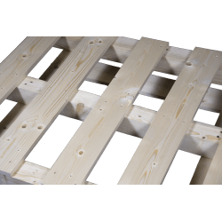 Palete de madeira com contraficha - Frente de cima 2