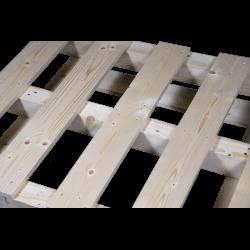 Schwerlastpalette aus Holz - Vorderseite von oben 2