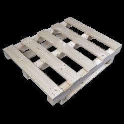 Palete de madeira com contraficha - Frente lado esquerdo 2
