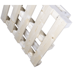 Palete de madeira com contraficha - frente de pé 2