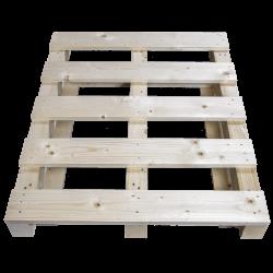 Schwerlastpalette aus Holz - Vordere kurze Seite