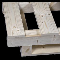 Schwerlastpalette aus Holz - Projektionsdetail