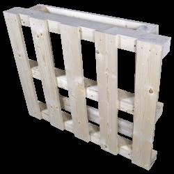 Pallet in legno con travatura - in piedi frontale 2