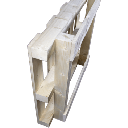 Pallet in legno con travatura - in piedi posteriore 3