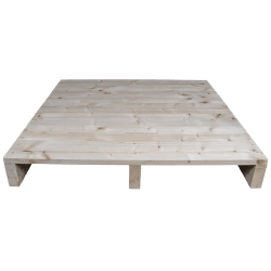 Two Way Light wooden pallet - Planed front with no space between boards