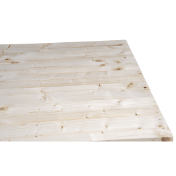 Leichte Zweiweg-Holzpalette pallet - Geplante Front ohne Platz zwischen den Brettern auf der kurzen Seite