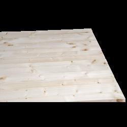Palete de madeira de duas entradas leve - Frente aplainada sem espaço entre as placas no lado curto