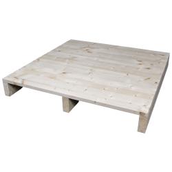 Two Way Light wooden pallet - Planed front with no space between side boards 2