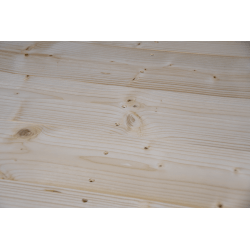 Palet de madera a 2 vías ligero - Detalle frontal cepillado sin espacio entre tablas