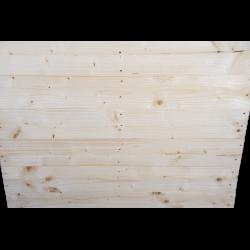 Pallet in legno a 2 vie leggero - Frontale piallato senza spazio tra tavole in piedi 2