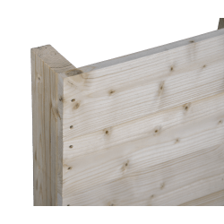 Two Way Light wooden pallet - Front planed with no space between boards standing side