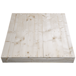 Two Way Light wooden pallet - Planed front without space between boards on the short side