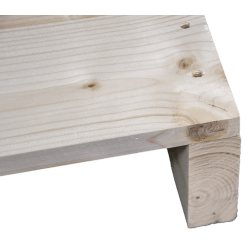 Palete de madeira de duas entradas leve - Frente aplainada sem espaço entre as placas de canto 2