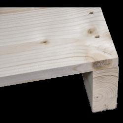 Palette en bois à deux entrées léger - Façade rabotée sans espace entre les planches d'angle 2