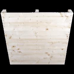Palete de madeira de duas entradas leve - Frente aplainada sem espaço entre as placas verticais