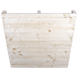 Twee weg houten pallet Light - Geschaafd front zonder ruimte tussen staande planken