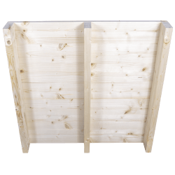 Two Way Light wooden pallet - Front planed with no space between boards standing back