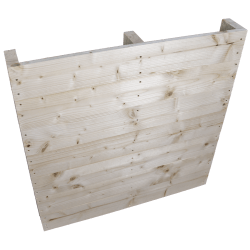 Palet de madera a 2 vías ligero - Frente cepillado sin espacio entre las tablas de pie lateral