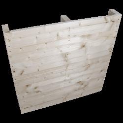 Pallet in legno a 2 vie leggero - Frontale piallato senza spazio tra tavole in piedi 3