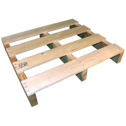 Two Way Light wooden pallet - Front left side not planed