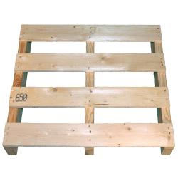 Two Way Light wooden pallet - Front from top not planed