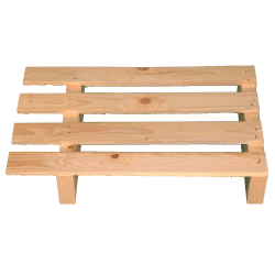 Leichte Zweiweg-Holzpalette pallet - Palette zur Verwendung mit Transpallet