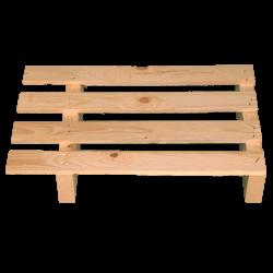 Palete de madeira de duas entradas leve - Palete para uso com transpalete