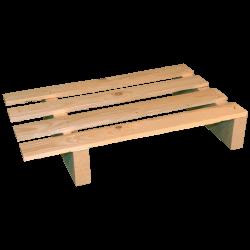 Palete de madeira de duas entradas leve - Palete para uso com transpalete 2