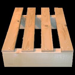 Palete de madeira de duas entradas leve - Palete para uso com transpalete 4