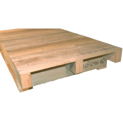 Schwerlastpalette aus Holz - Seite nicht in durchgehender Ebene gehobelt