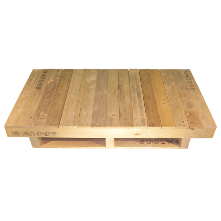 Heavy Duty pallet - Unplaned front with continuous surface