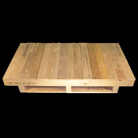 Palette en bois avec contrefiche - Façade non rabotée avec surface continue