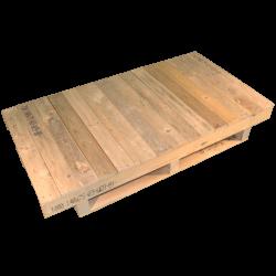 Pallet zware uitvoering - Ongeschaafd front met doorlopend oppervlak