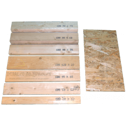 OSB3 sheets tickness 9mm - Comparison with other measures