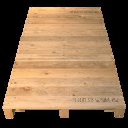 Palete de madeira com contraficha - Frente não aplainada com superfície contínua