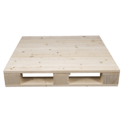 Four Way Block wooden pallet - Planed front