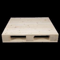 Palette en bois à quatre entrées - Avant raboté