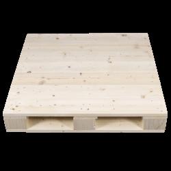 4 weg houten blok pallet - Geschaafde voorkant